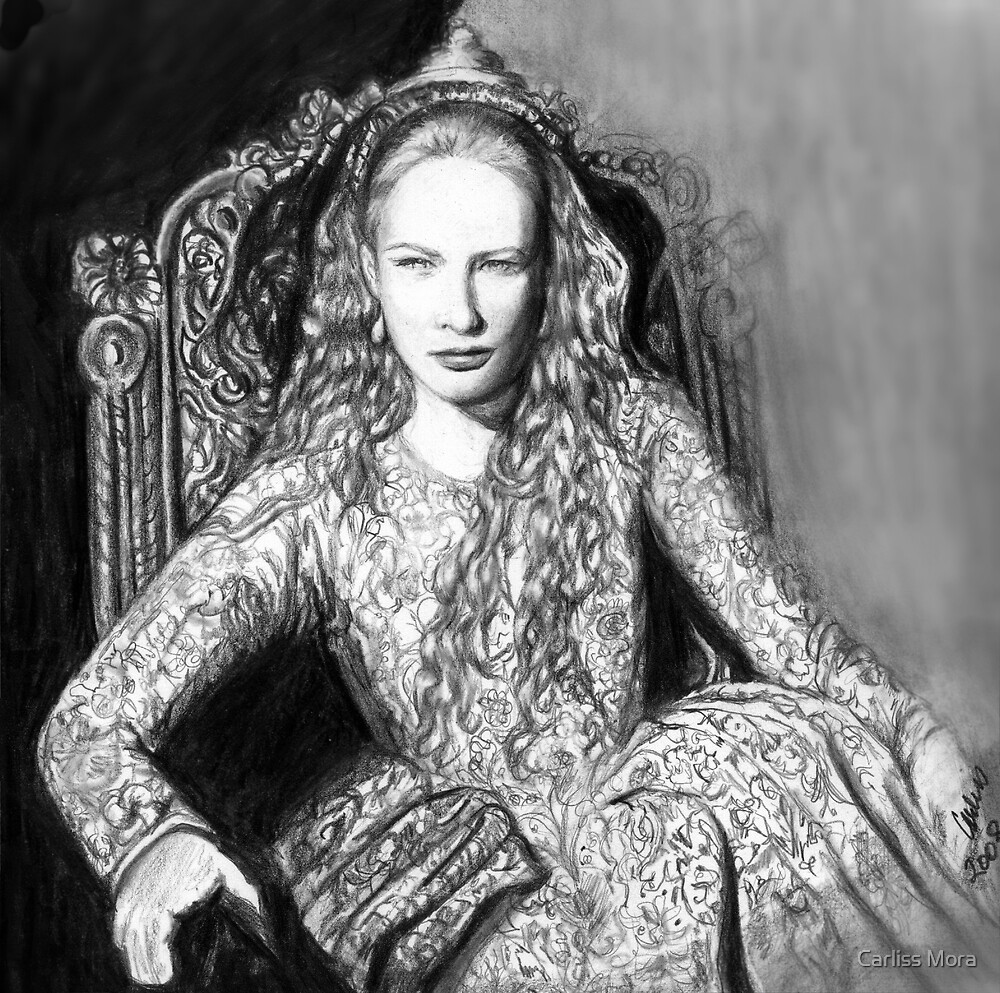 Cate Blanchett as Queen Elizabeth I #2 by Carliss Mora