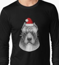 Santa Pitbull  Long Sleeve T-Shirt