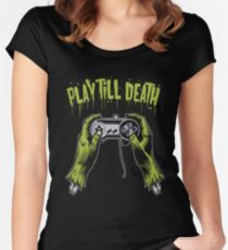 Play Till Death Women's Fitted Scoop T-Shirt