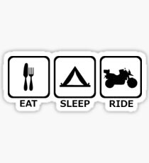 Eat - Sleep - Ride - Adventure Rider (black) Sticker