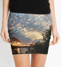 Sunset Across Mozingo Lake Mini Skirt