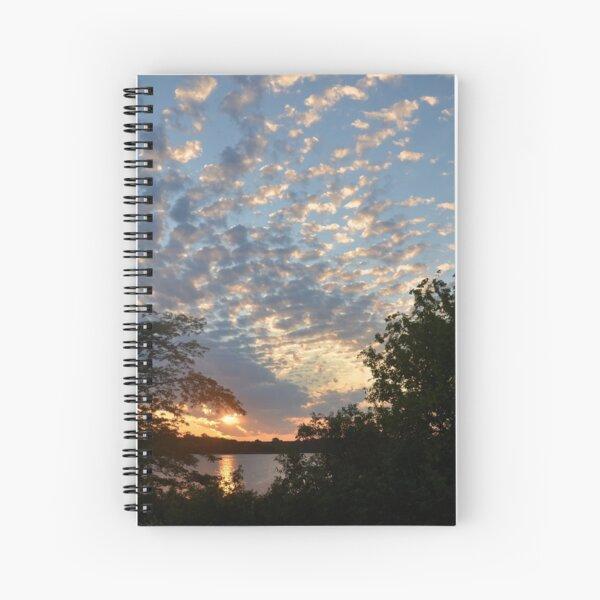 Sunset Across Mozingo Lake Spiral Notebook