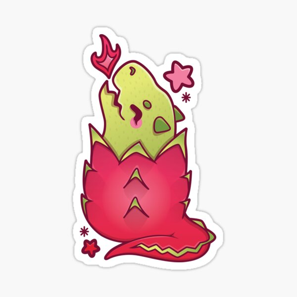 Dragonfruit Sticker