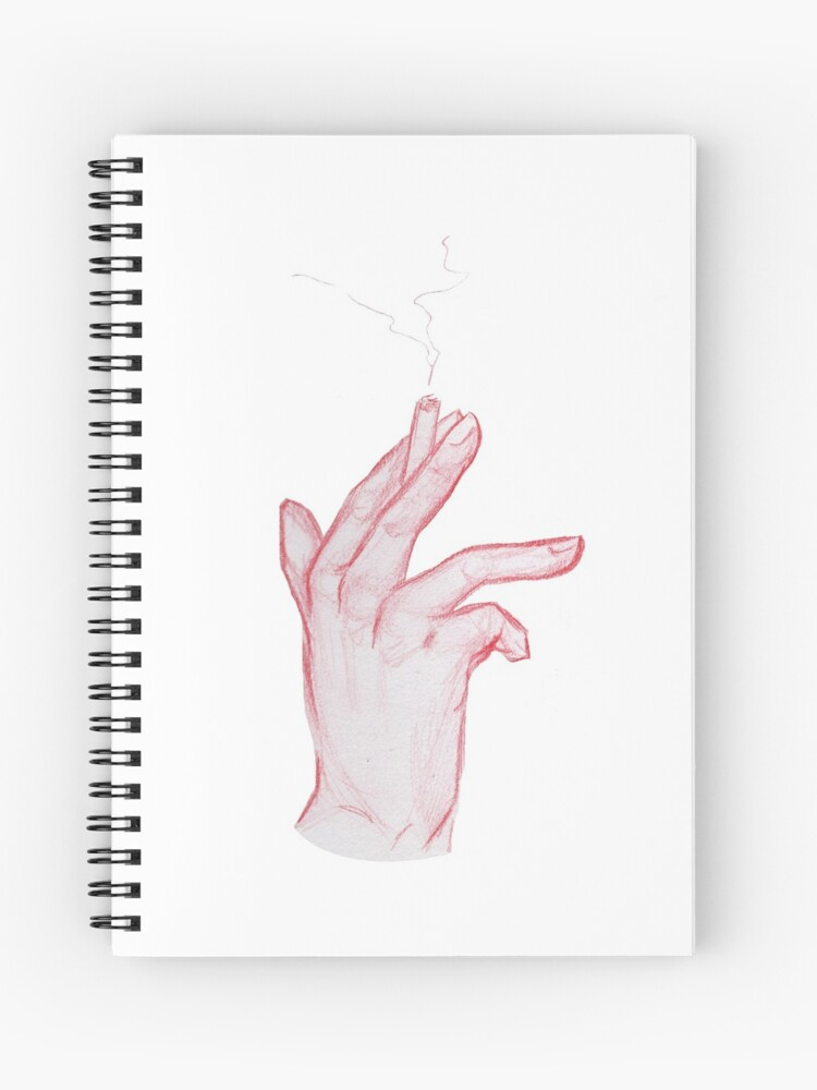 red hand pencil sketch n2 spiral notebook by maudepelletier redbubble
