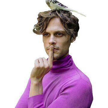 Matthew Gray Gubler Bird by jsivart