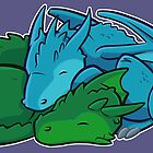Napping Dragons by Jeff Powers Illustration
