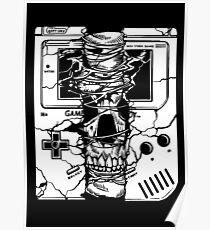 Gameboy Skull Poster