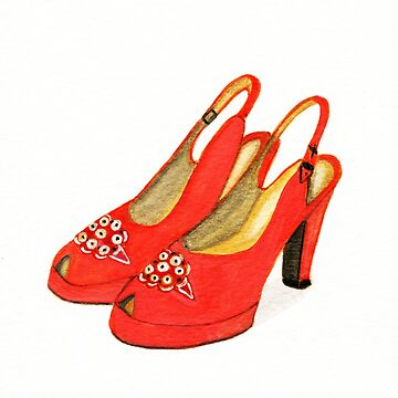 Vintage Suede Platforms by allybdesign