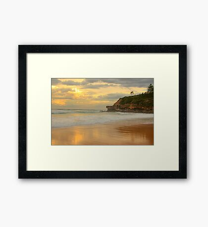 Days Gone By - Warriewood Beach - The HDR Experience Framed Print