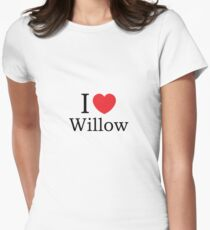 I Love Willow - With Simple Love Heart T-Shirt