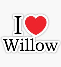 I Love Willow - With Simple Love Heart Sticker