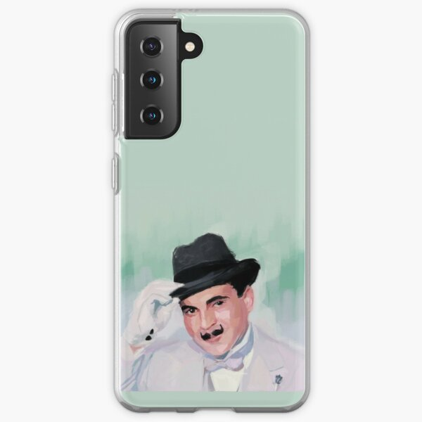 Hercule Poirot tips his hat to you Samsung Galaxy Soft Case