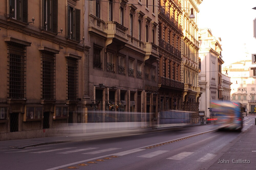 Rome Streets by John  Callisto