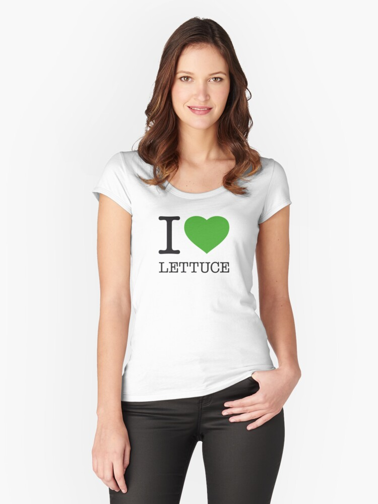 I ♥ LETTUCE Women's Fitted Scoop T-Shirt Front