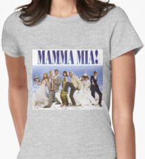Mamma Mia Cast Poster Women's Fitted T-Shirt