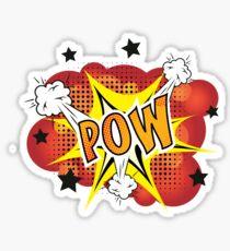 POW - Comic Book Style Explosion Cartoon Sticker