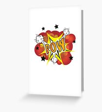 POW - Comic Book Style Explosion Cartoon Greeting Card