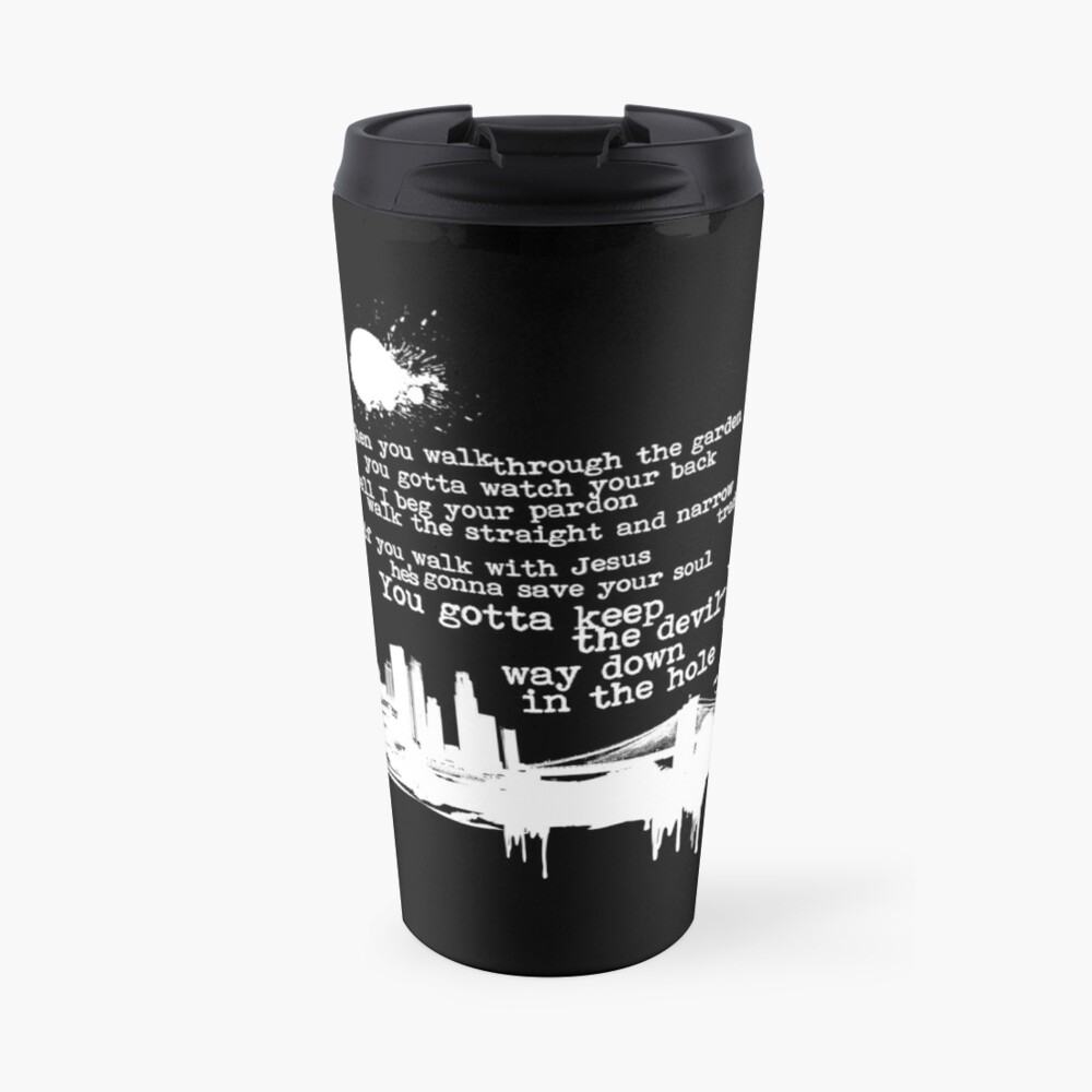 """Way Down In The Hole"""" - The Wire - Light Travel Mug"""