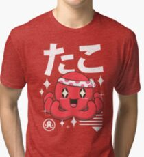 Kawaii Octopus Tri-blend T-Shirt