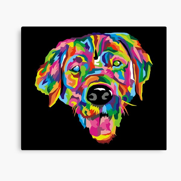 Macca the Golden Retriever Canvas Print