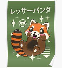 Kawaii roter Panda Poster