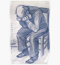 Dispair Vincent Van Gogh At Eternity's Gate  Poster