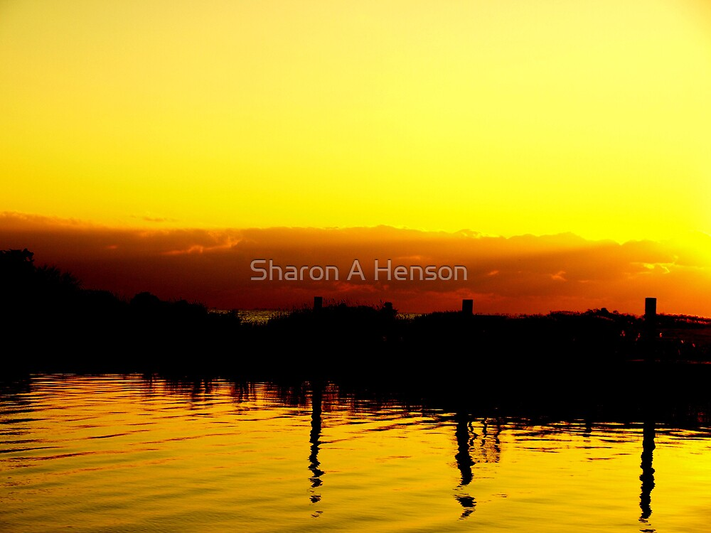SUNSET IN ABSTRACT by Sharon A. Henson