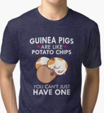 Guinea Pigs Are Like Potato Chips Funny Quote Cute  Tri-blend T-Shirt