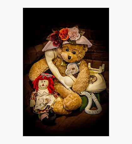 Bear Stories: Calling Someone Special Photographic Print