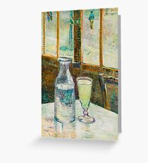 Still Life with Absinthe Vincent van Gogh Alcohol Drink Greeting Card