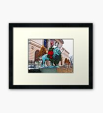 CHICAGO TRADITION Framed Print