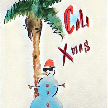Californian snowman by anastasiadueva