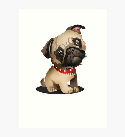 Pug pup Art Print