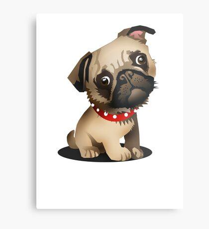 Pug pup Metal Print