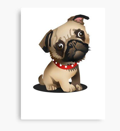 Pug pup Canvas Print