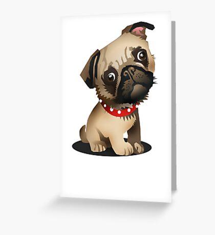 Pug pup Greeting Card