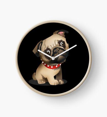 Pug pup Clock