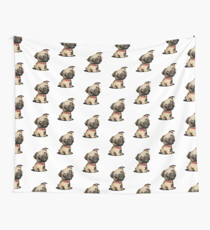 Pug pup Wall Tapestry