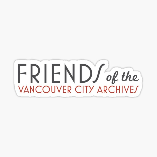 Friends of the Vancouver City Archives logo Sticker