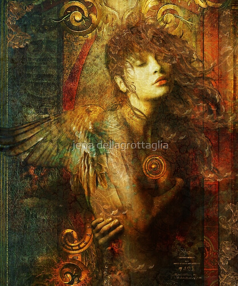Gold Leaf Angel by jena dellagrottaglia
