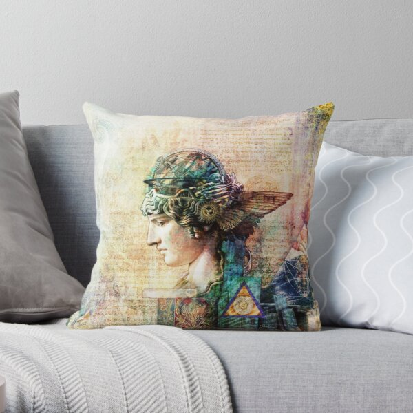 knowledge lost Throw Pillow