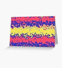 Melting bubbles Greeting Card