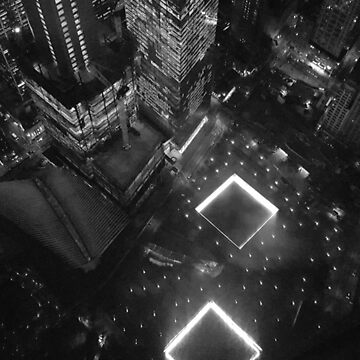 Ground Zero Memorial B&W by Phyxius