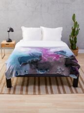 Abstract Watercolor Painting Throw Blanket