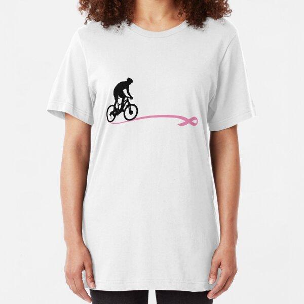 Breast Cancer Awareness - Mountain Bike Slim Fit T-Shirt