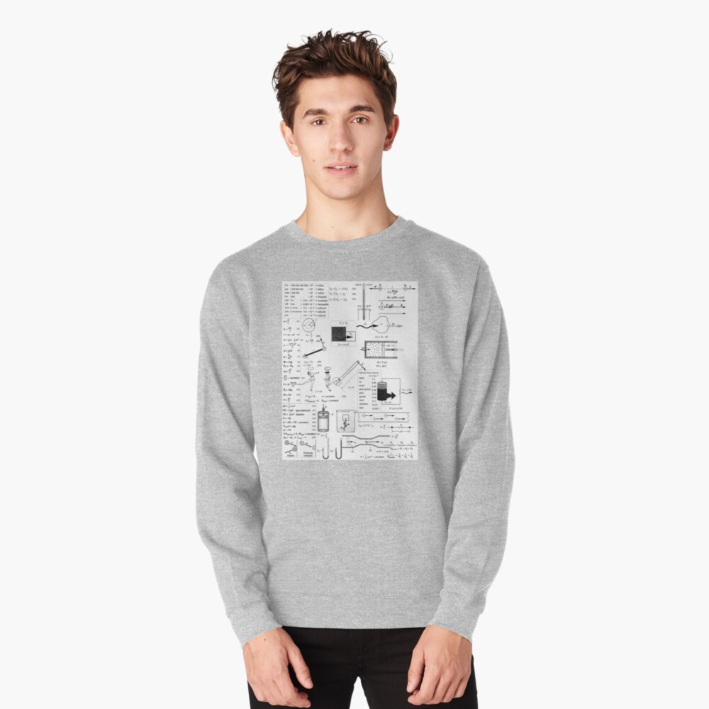 General Physics Formula Set, ra,sweatshirt,x1850,heather_grey,front-c,105,45,1000,1000-bg,f8f8f8