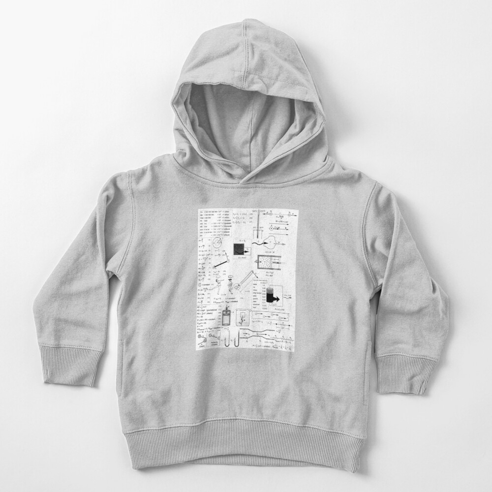 General Physics Formula Set, ssrco,toddler_hoodie,youth,heather_grey,flatlay_front,square,1000x1000-bg,f8f8f8