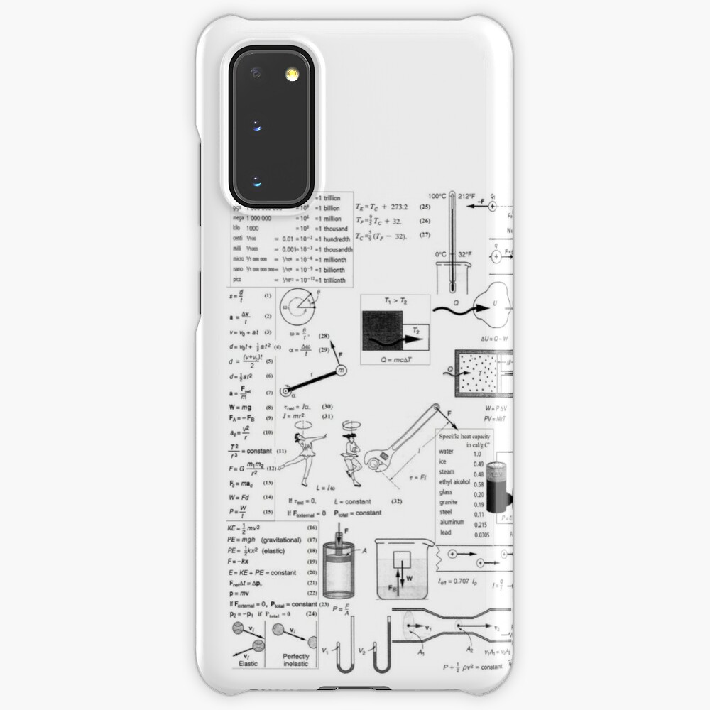 General Physics Formula Set, icr,samsung_galaxy_s20_snap,back,a,x1000-pad,1000x1000,f8f8f8