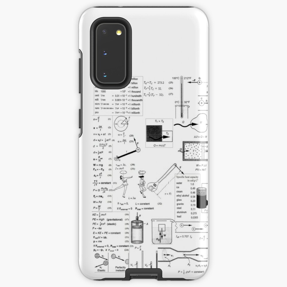General Physics Formula Set, icr,samsung_galaxy_s20_tough,back,a,x1000-pad,1000x1000,f8f8f8