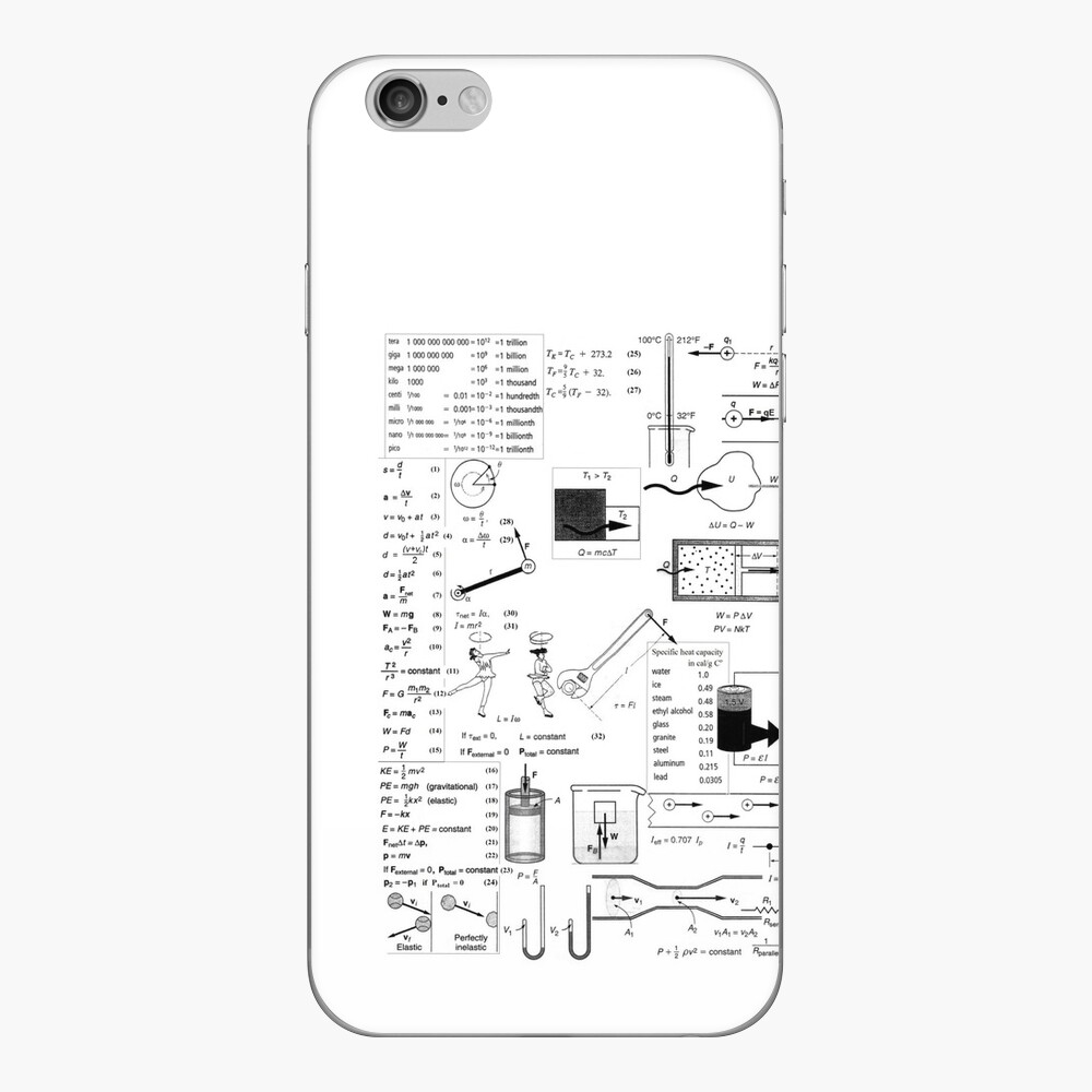 General Physics Formula Set, mwo,x1000,iphone_6_skin-pad,1000x1000,f8f8f8